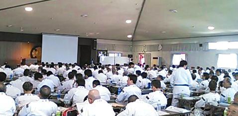 年に一度、全国の道院長が集まって実施される研修会。本年度は第三次に出席しました。